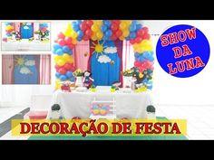 DECORAÇÃO DE FESTA INFANTIL SHOW DA LUNA - YouTube