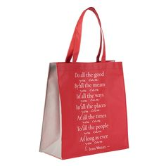 Do All The Good You Can - John Wesley Tote Bag Stuff To Do, Cool Things To Buy, Good Things, Christian Art Gifts, Red Tote Bag, John Wesley, Christian Resources, Bag Packaging, Hope Quotes