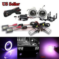 "For vw usa 3"" #projector fog #lights+purple ccfl angel #eyes+switch+12000k hid ki,  View more on the LINK: 	http://www.zeppy.io/product/gb/2/112109460448/"