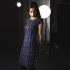 Certified Fair Trade | Blue Woven Ikat Dress | MadeFAIR | Ethical & Sustainable Fashion