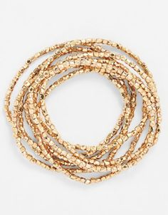 gold bead stretch bracelets http://rstyle.me/n/t338wpdpe