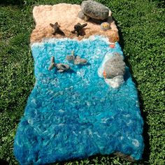 lovely felted playmat