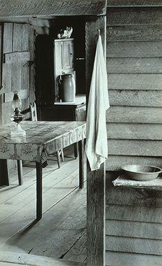 Burroughs Family Cabin, Hale County, Alabama, 1936: Walker Evans (American, 1903–1975) Gelatin silver print