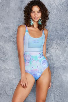 Gamer Holographic Swimsuit - 48HR ($90AUD) by BlackMilk Clothing