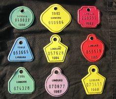 License plates for bicycles - plaques pour les vélos (BE)