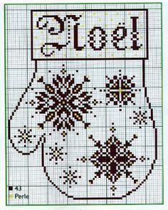 """Милые сердцу штучки: Новогодняя вышивка: """"Рукавички"""""""