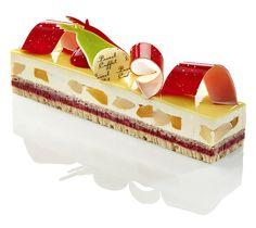 Dessert entremets au chocolat et aux fruits Pascal Caffet