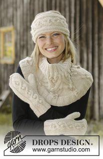 Accessories - Free knitting patterns and crochet patterns by DROPS Design Knit Headband Pattern, Knitted Headband, Knitted Hats, Crochet Hats, Drops Design, Baby Knitting Patterns, Free Knitting, Crochet Patterns, Mittens Pattern