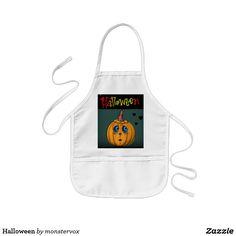 Halloween Kids' Apron #Halloween #Holiday #Art #Apron #Pumpkin #JackOLantern