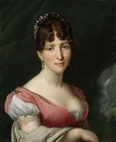 Portrait of Hortense de Beauharnais, Queen of Holland, Anne Louis Girodet-Trioson, c. 1805 - c. 1809