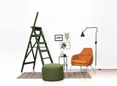 ASENTO | Lounge chair and pouf from Bent Hansen. Ottoman, pouf, indretning, interior,