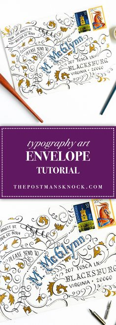 Typography Art Envelope Tutorial