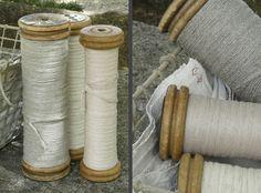 vintage spools of thread...
