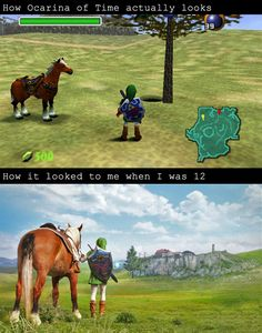 #LegendofZelda Ocarina of Time - Reality vs. Memory HOW I WISH I KNEW THIS GAME EXISTED WHEN I WAS YOUNGER!!! T-T