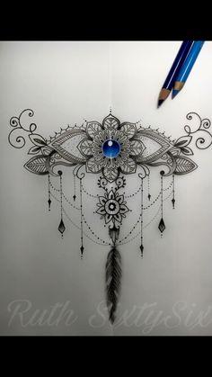 Best Picture For abdomen oblicuos . Owl Tattoo Design, Henna Tattoo Designs, Tattoo Sleeve Designs, Sleeve Tattoos, Gem Tattoo, Jewel Tattoo, Lace Tattoo, Dotwork Tattoo Mandala, Underboob Tattoo