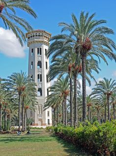 Water Tower at the beautiful Summer Palace of King Farouk of Egypt - photo by Mari Ward-Foster, via Flickr;  in Alexandria, Egypt