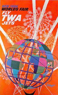 New York World's Fair 1964 - 1965 - vintage TWA