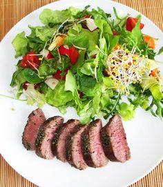 Low Carb Lammlachse an Salat