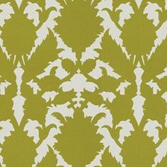 Green peony print