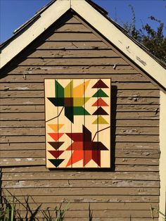 Falling Leaves Barn Quilt-I want this on my barn! Barn Quilt Designs, Barn Quilt Patterns, Quilting Designs, Art Patterns, Patchwork Patterns, Colchas Quilting, Quilting Projects, Barn Signs, Wood Signs
