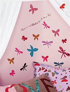 Pack of 37 Butterfly & Dragonfly Stickers PACK OF 37 BUTTERFLY