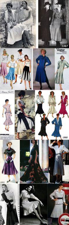 Ретро с клином: юбка-годе - «Ретро стиль, мода и шитье»   Fashion_Мода_Стиль   Постила