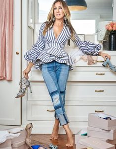 Sarah Jessica Parker can be your personal shopper. - Sarah Jessica Parker can be your personal shopper. Sarah Jessica Parker, Look Fashion, Fashion Models, Fashion Outfits, Womens Fashion, Fashion 2018, Fashion Trends, Paris Chic, Carrie Bradshaw Style