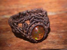 Φυσική πέτρα δαχτυλίδι / Fire Opal 3 (περίπου Νο 9) - φυσική πέτρα αξεσουάρ δι 'αλληλογραφίας   ARTEMANO (Arutemano)