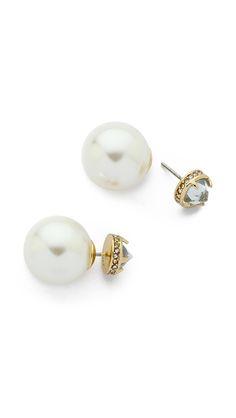 crystal front back earrings / rebecca minkoff