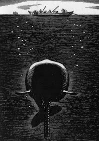 Flores y Palabras: Moby Dick: Ilustraciones de Rockwell Kent Rockwell Kent, Norman Rockwell, Melville Moby Dick, Beneath The Sea, Whale Art, Whale Song, White Whale, Wale, Scratchboard