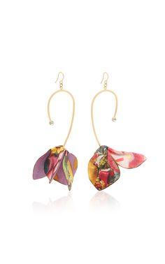 Gray Creative Gift Woman Asymmetrical Geometric Velvet Ribbon Streamers Fabric Tassel Earrings Earring Dangler Eardrop Women Girls