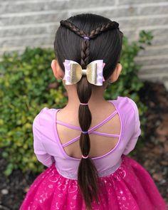 Easy Little Girl Hairstyles, Girls Hairdos, Cute Hairstyles For Kids, Baby Girl Hairstyles, Girls Braids, Braided Hairstyles, Anna Hair, Bubble Ponytail, Toddler Hair