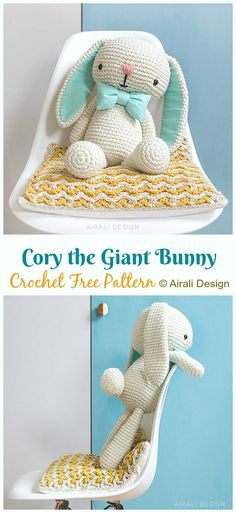 Crochet animals 425801339768292225 - Amigurumi Bunny Free Crochet Patterns – Page 2 of 2 – Crochet & Knitting Source by MyriamLakraa Amigurumi Free, Crochet Patterns Amigurumi, Crochet Dolls, Amigurumi Doll, Easy Knitting Projects, Crochet Projects, Diy Crochet, Crochet Crafts, Crochet Ideas