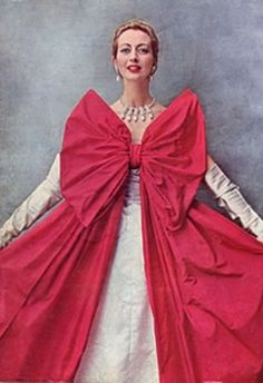 Balenciaga ball gown photographed by Cecil Beaton for the cover of Vogue, November 1951.