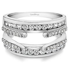 049 ct Diamonds GHI2I3 Combination Cathedral and Classic Ring Guard in 14k White Gold 12 ct twt ** Details can be found by clicking on the image.