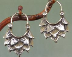 Alhambra Earrings number 1 tribal style silver by BobsWhiskers