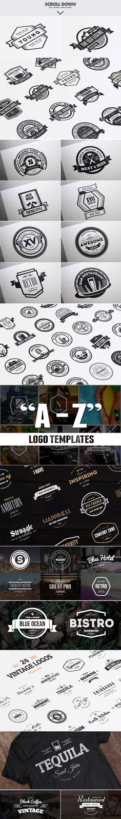 MASSIVE BUNDLE 576 Vintage Logos by DesignDistrict on Creative Market
