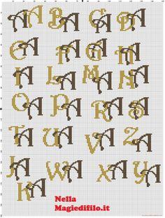 Iniciales letras entrelazadas A