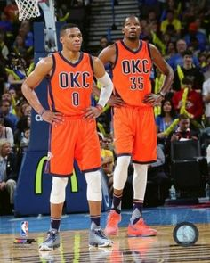 faa32923276d Kevin Durant   Russell Westbrook 2015-16 Action Photo Print (20 x 24)