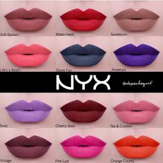NYX liquid suede cream lipsticks