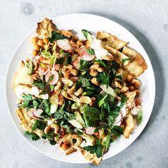 spiced chickpeas, crispy pita, yogurt, radishes + mint | local haven
