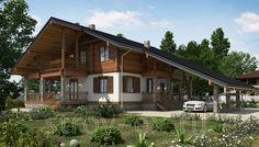 """Проект дома в стиле шале """"C111 Неман"""" площадью 239.00 кв.м. - «Строй Экспресс»"""