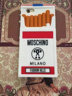 Auf Lager! Moschino Zigaretten Design Silikon Smoking Handyhülle für iphone5/6/6 plus - Prima-Module.Com