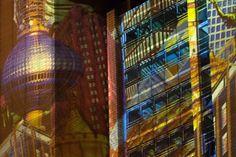 Illuminationseffekte am Atrium Tower.