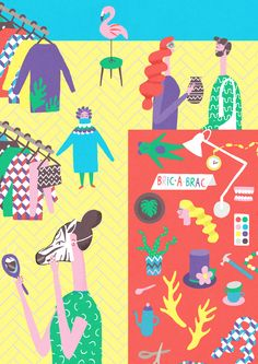 Naomi Wilkinson An illustration I did for the Irish magazine 'Image interiors and Living' about thrift shopping