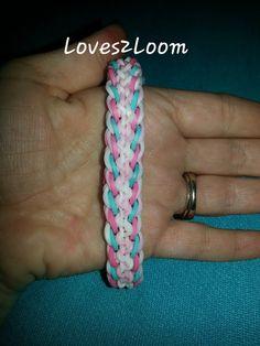"My New "" Spiral Curl "" Rainbow Loom Bracelet"