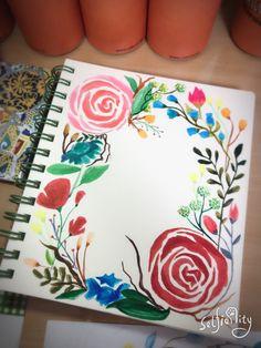 #🐔2017취미#따라그리기#꽃그림#watercolor#botanica#수채화 #쿠레다케지그펜