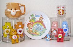 Care Bears glassware/tumblers - had the glasses from Hardees (?) :)
