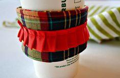 Coffee Cozy Kilt Cup Cozy Home and Living by CinnamonStixSundries.Etsy.com