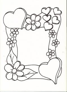Mothers Day Coloring Pages For Toddlers Coloring Book Pages, Coloring Sheets, Wood Burning Patterns, Borders And Frames, Mothers Day Crafts, Digi Stamps, Doodle Art, Art Drawings, Illustration
